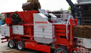 Europress mobile channel baler