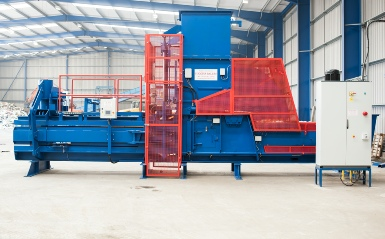 Same Bollegraaf HBC50 after Higgins Balers Refurbishment and installation on site