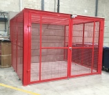 Higgins Balers purpose built secure cage