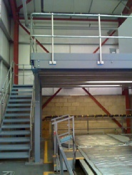 Higgins Balers designed and built bespoke mezzanine floor